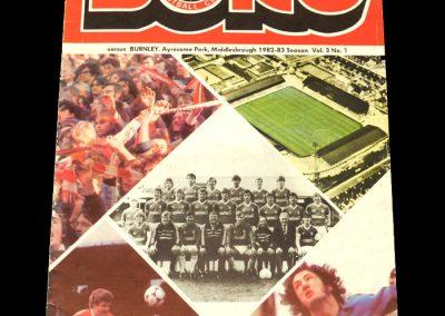 Middlesbrough v Burnley 04.09.1982