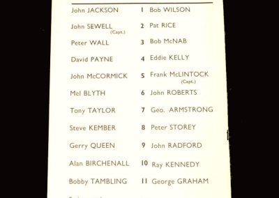 Arsenal v Crystal Palace 28.10.1970 - League Cup 4th Round
