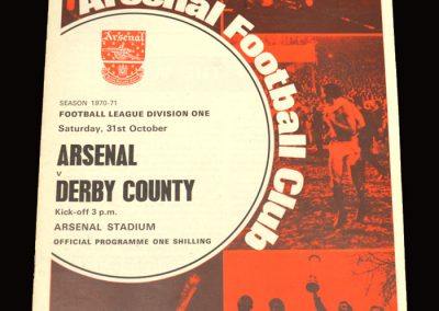 Arsenal v Derby 31.10.1970