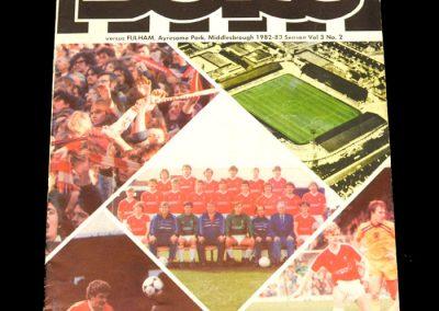 Middlesbrough v Fulham 18.09.1982