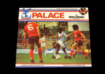 Middlesbrough v Crystal Palace 25.09.1982