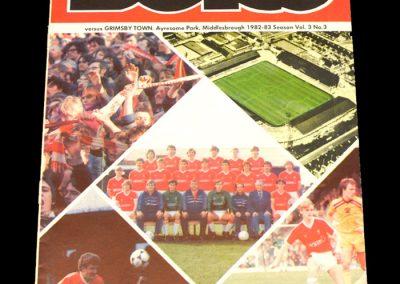 Middlesbrough v Grimsby 28.09.1982