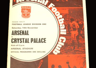 Arsenal v Crystal Palace 14.11.1970
