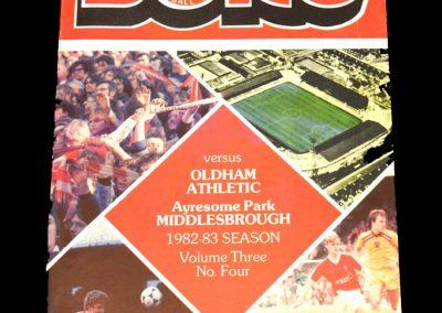 Middlesbrough v Oldham 02.10.1982