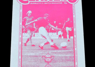 Middlesbrough v Burnley 05.10.1982 - League Cup 2nd Round 1st Leg