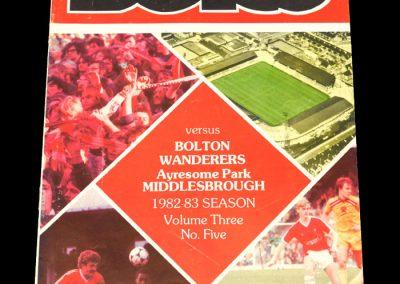 Middlesbrough v Bolton 16.10.1982