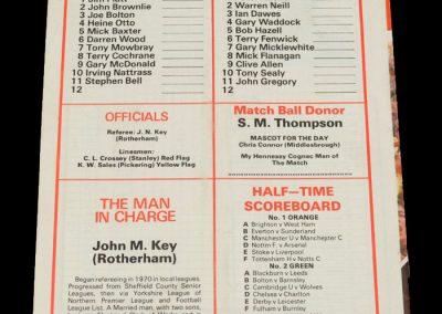 Middlesbrough v QPR 23.10.1982