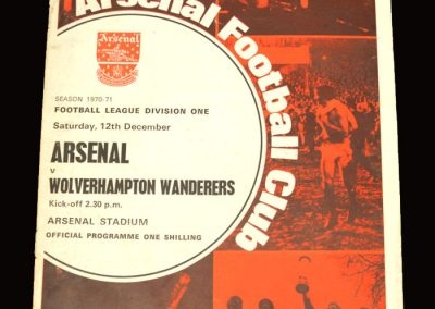 Arsenal v Wolves 12.12.1970