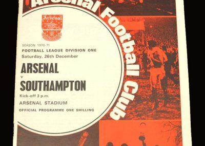 Arsenal v Southampton 26.12.1970