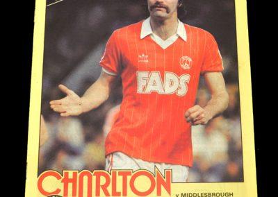 Middlesbrough v Charlton 13.11.1982