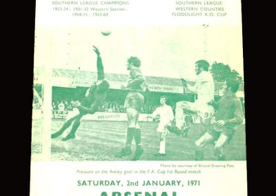 Arsenal v Yeovil 02.01.1971 - FA Cup 3rd Round