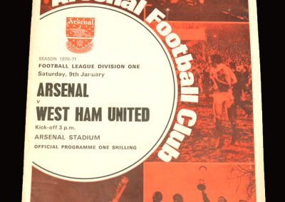 Arsenal v West Ham 09.01.1971