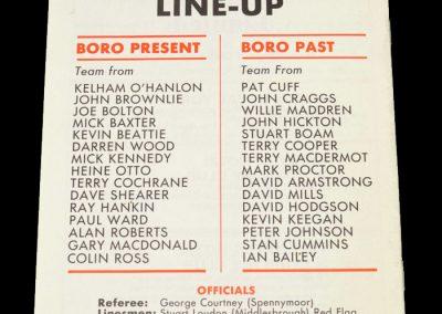 Middlesbrough Present v Middlesbrough Past 16.11.1982 - John Craggs Testimonial