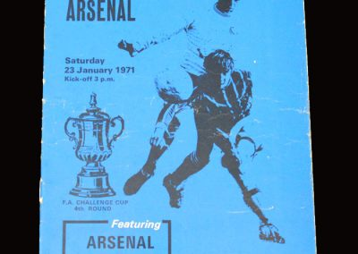 Arsenal v Portsmouth 23.01.1971 - FA Cup 4th Round