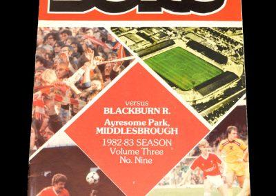Middlesbrough v Blackburn 27.11.1982