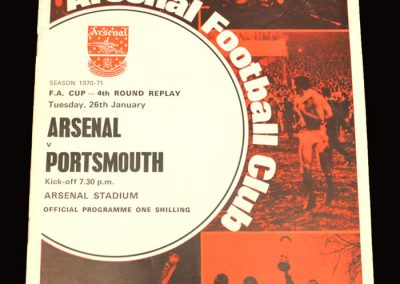 Arsenal v Portsmouth 01.02.1971 - FA Cup 4th Round Replay