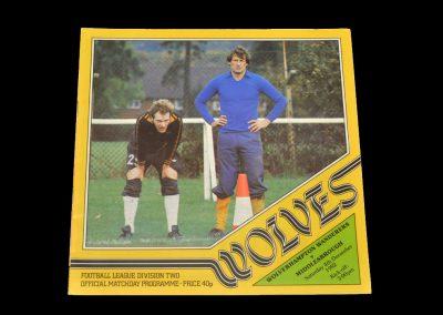 Middlesbrough v Wolves 04.12.1982