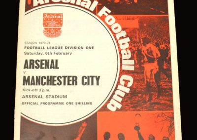 Arsenal v Man City 06.02.1971