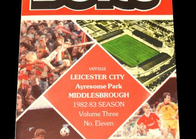 Middlesbrough v Leicester 27.12.1982