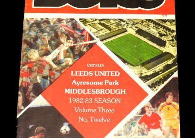 Middlesbrough v Leeds 01.01.1983
