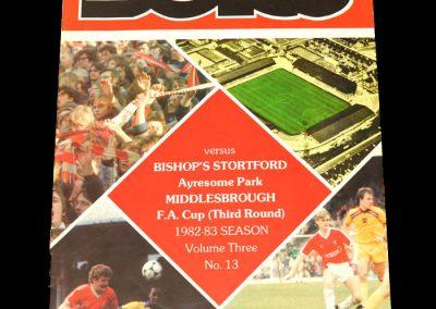 Middlesbrough v Bishop's Stortford 08.01.1983 - FA Cup 3rd Round