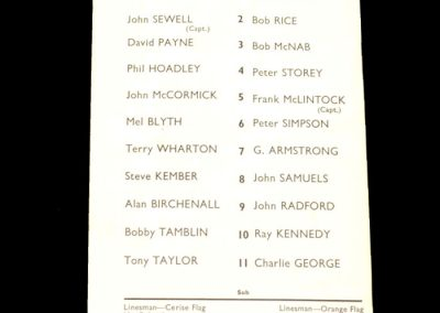 Arsenal v Crystal Palace 13.03.1971