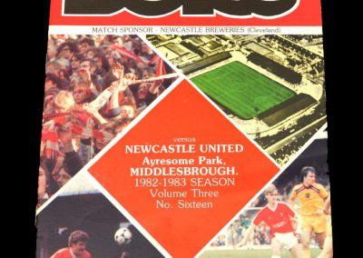 Middlesbrough v Newcastle 05.02.1983