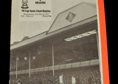 Arsenal v Stoke 31.03.1971 - FA Cup Semi Final Replay