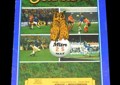 Middlesbrough v Oldham 12.02.1983