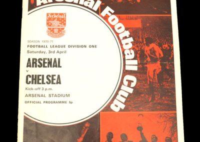 Arsenal v Chelsea 03.04.1971
