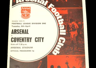 Arsenal v Coventry 06.04.1971