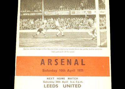Arsenal v Southampton 10.04.1971
