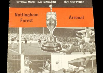 Arsenal v Notts Forest 13.04.1971
