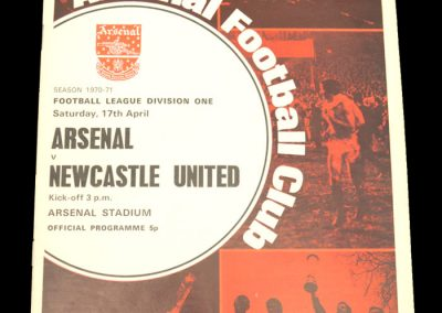 Arsenal v Newcastle 17.04.1971