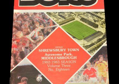 Middlesbrough v Shrewsbury 08.03.1983