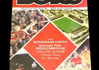 Middlesbrough v Rotherham 12.03.1983