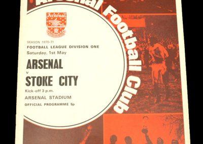 Arsenal v Stoke 01.05.1971