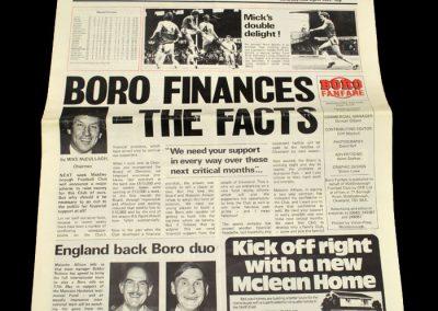 Middlesbrough v Carlisle (Middlesbrough Fanfare) 02.04.1983