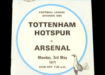Arsenal v Spurs 03.05.1971
