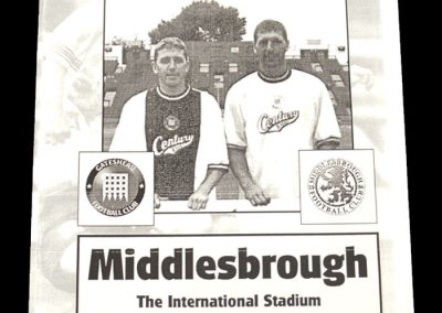 Middlesbrough v Gateshead 25.07.1997 - Friendly