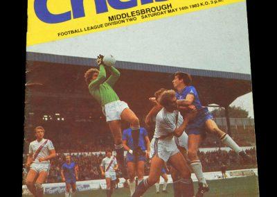 Middlesbrough v Chelsea 14.05.1983