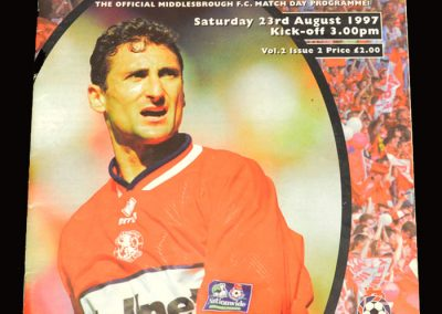 Middlesbrough v Stoke 23.08.1997