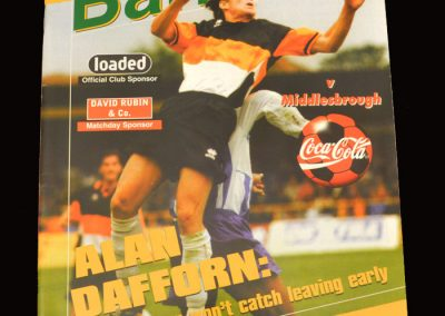 Middlesbrough v Barnet 23.09.1997 - League Cup 2nd Round 2nd Leg