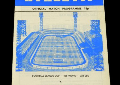 Wigan v Tranmere 16.08.1978 - League Cup 1st Round 2nd Leg