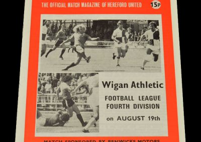 Wigan v Hereford 19.08.1978