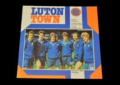 Wigan v Luton 29.08.1978 - League Cup 2nd Round
