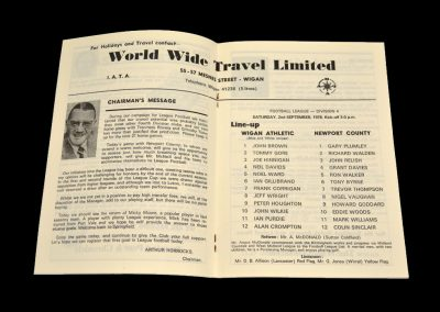 Wigan v Newport 02.09.1978