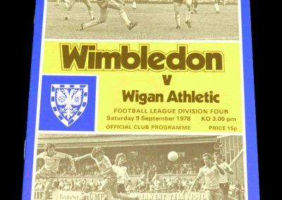 Wigan v Wimbledon 09.09.1978