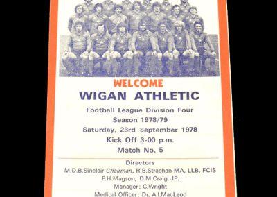 Wigan v York 23.09.1978
