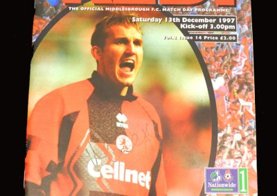Middlesbrough v Reading 13.12.1997